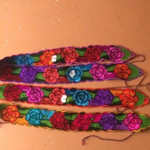 Floral design hand made belt each